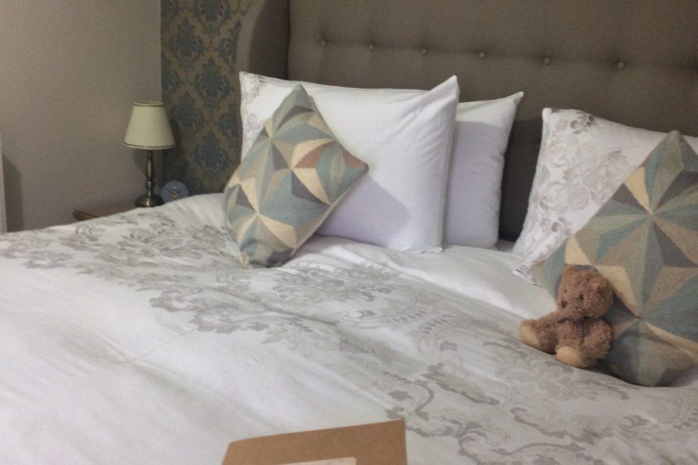 Super-king bed in Glaslyn Room