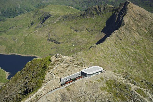 Hafod Eryri Visitors Centre Summit of Snowdon (Yr Wyddfa) (looking South East) Snowdonia Aerial North Scenery